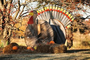 Wooden spool turkey